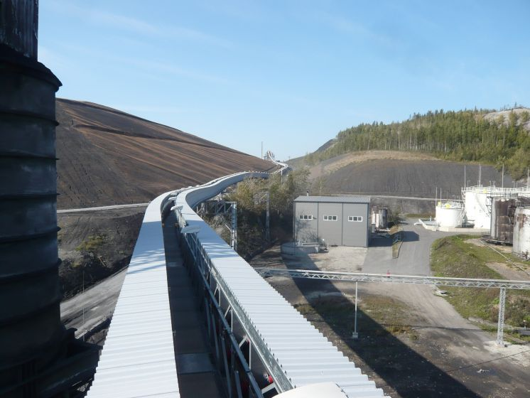 View of conveyor