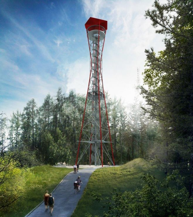 Architectural designs of lookout towers for Horní Planá